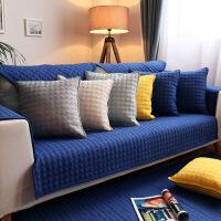 【人气宝贝】四季纯棉沙发垫纯色北欧沙发垫现代防滑全棉布艺沙发坐垫子简约【】