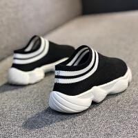 小白鞋运动秋儿童宝宝男童女童一脚蹬帆布懒人鞋子布鞋女