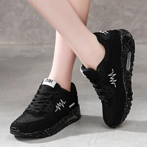 2018春季新款网布透气时尚平底运动鞋休闲鞋韩版厚底单鞋潮流低帮鞋女鞋AL02