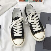 小白鞋女韩国街拍经典款复古1970复刻黑色低帮帆布鞋女