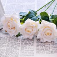 仿真单支玫瑰套装单支假玫瑰花仿真玫瑰花套装绢花塑料花装饰花束餐桌摆设花