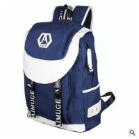 新款 男士双肩包 韩版学生书包 休闲帆布背包电脑包旅行包 潮男