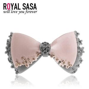 皇家莎莎RoyalSaSa发卡发饰韩国头饰蝴蝶结弹簧夹发夹饰品顶夹卡子水钻马尾夹