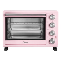 美的(Midea)独立精控四层烘焙电烤箱 25升 粉色 PT25A0