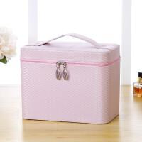 化妆包大容量多功能简约便携收纳盒品大小号韩国手提双层化妆箱女