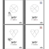 EXO-M K 狼与美女XOXO双专辑 正规一辑 2CD 2写真集 2小卡