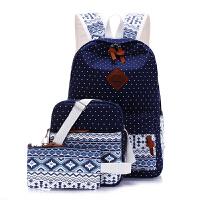 帆布双肩包民族风女小清新书包轻便大容量中小学生休闲百搭电脑包