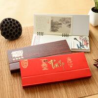新款2019年周历座记事便签中国风复古创意台历办公摆件可定印广告