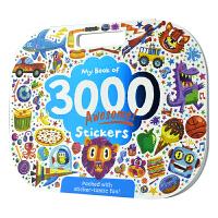 My book of 3000 Awesome Stickers 3000 好棒的贴纸书 3000张贴纸 启蒙认知 手