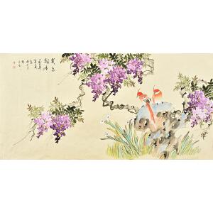 姜晓英四尺整张花鸟画gh02081