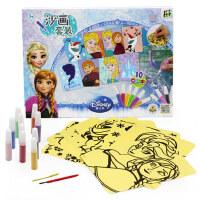 迪士尼diy手工彩砂制作玩具细沙材料儿童沙画套装彩沙男女孩