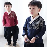 男童汉服秋款男宝宝中国风唐装儿童复古服装