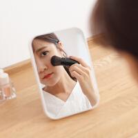 韩国化妆镜 女生梳妆镜 软妹随身便携镜子 台式折叠公主镜
