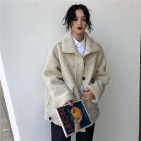 羊羔毛外套女冬季2018新款韩版宽松百搭学生加厚保暖棉衣棉袄