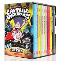 英文原版 Captain Underpants 12本全套盒装内裤超人 Dav Pilkey 中小学阅读故事漫画桥梁书