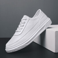 男鞋夏季单鞋白色休闲鞋男士板鞋系带运动鞋透气小白鞋学生个性平底潮鞋