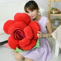 卡通大号可爱玫瑰花瓣抱枕汽车车载抱枕靠垫坐垫女朋友礼物