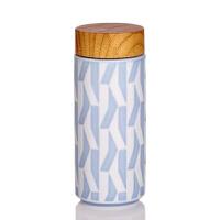 新品乾唐轩活瓷杯风和日丽随身杯双层350ml创意陶瓷随身杯水杯子