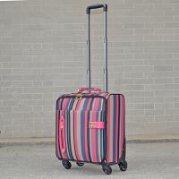 登机箱小行李箱女16寸手提皮箱男18密码箱20迷你旅行箱商务拉杆箱 红色条纹 红色条纹