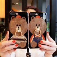 【支持礼品卡】可爱熊情侣壳苹果6S手机壳女款iphone6plus保护壳挂绳7个性创意潮