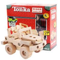 木制车模型玩具TONKA组拆装拼装车拼装吉普车DIY益智木制玩具 周岁生日圣诞节新年六一儿童节礼物