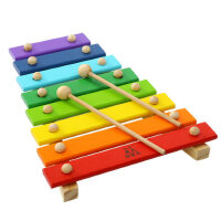 木制婴儿童男女孩益智力玩具6-8个月宝宝八音手敲琴木琴0-1-2-3岁
