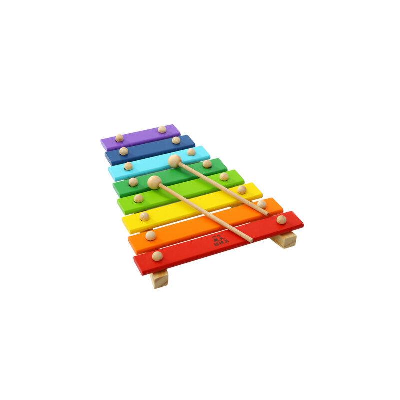 木制婴儿童男女孩益智力玩具6-8个月宝宝八音手敲琴木琴0-1-2-3岁 木制八音琴