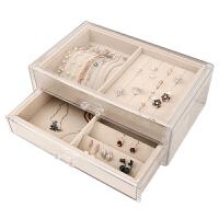 首饰盒风欧式小奢华韩国收拾放装耳环耳饰的收纳架