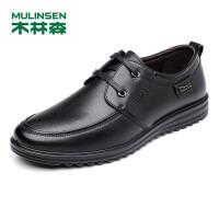 木林森男士皮鞋 2018新款皮鞋男头层牛皮休闲鞋柔软舒适商务鞋77053101
