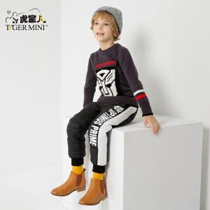 小虎宝儿童装变形金刚儿童毛衣外套男童针织衫2017秋冬新款 韩版
