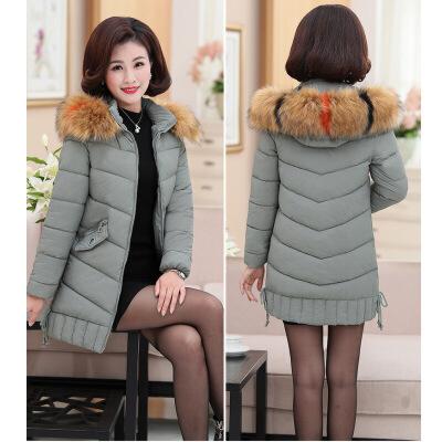 中年女装冬装棉衣40岁50妈妈羽绒中长款外套老年人冬季棉袄新