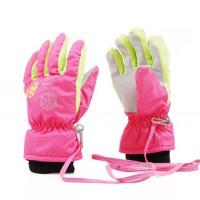 爱雪户外儿童滑雪手套 防风防水保暖儿童棉手套