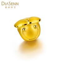 德诚珠宝 新品黄金足金吊坠硬金小蜜蜂转运珠手链手饰 送女友