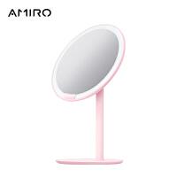 AMIRO 高清日光智能led化妆镜子 带灯台式便携美妆镜 MINI小粉镜