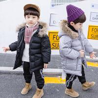 男宝宝外套儿童冬装中小童棉袄中长款潮