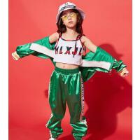 儿童爵士舞服装女童嘻哈街舞套装潮hiphop舞蹈服少儿走秀表演服