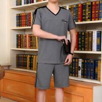 中老年运动服套装男款短袖短裤休闲运动套装男跑步锻炼运动服