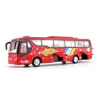 仿真金属长途旅游合金巴士公交车模型公共汽车声光回力