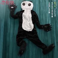 儿童家居服亲子秋冬可爱熊猫卡通动物情侣男女珊瑚法兰绒连体睡衣