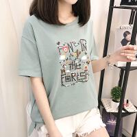 2017新款打底体恤衫短袖上衣女短袖t恤韩版上衣夏装   17RHW1885