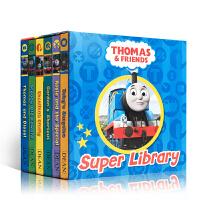 【全店300减100】英文原版【6本盒装纸板手掌书】托马斯和他的朋友们Thomas & Friends Super Li