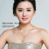 淡水贝壳珍珠项链925银项链韩版女式锁骨链颈链 项链长45厘米