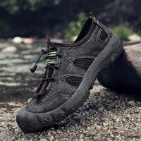 登山鞋男夏季户外休闲鞋网面鞋透气防滑防水徒步鞋2019新款新品 19011 黑色