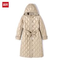 高梵2021新款长款女士羽绒服显瘦修身型保暖欧美风nis厚外套羽绒服