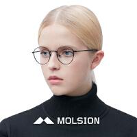 MOLSION陌森近视镜眼镜框圆框眼镜架复古细框光学眼镜架MJ6055