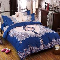 御目 三件套 夏季全棉印花卡通纯棉儿童学生宿舍单人床单被套被罩枕套0.9m1.2m1.5m床家居床上用品儿童床品