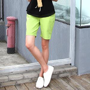 卡茗语棉麻短裤女夏休闲阔腿裤女夏宽松五分直筒大码运动裤中裤