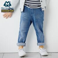 迷你巴拉巴拉男童裤子儿童牛仔裤秋冬款宝宝长裤幼童新款秋装裤子