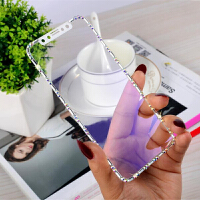 iPhoneX钢化膜水钻iPhone Xs Max带钻膜苹果6s全屏覆盖x苹果7手机膜女款6奢华xs