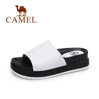 Camel/骆驼女鞋  夏季新款 简约舒适厚底女拖鞋 柔软时尚拖鞋
